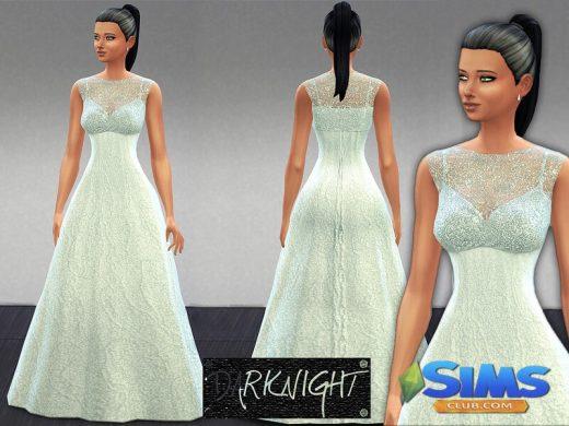 Embellished Blue-White Dress