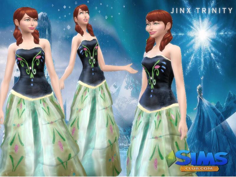 Frozen dress Anna