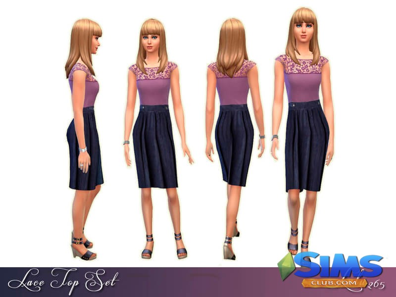 Lace Top Dress