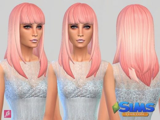 Pretty In Pink - Long Straight Bangs