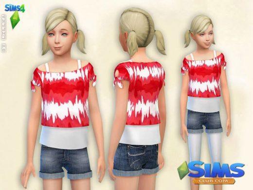 Printed T-Shirt  Denim Shorts