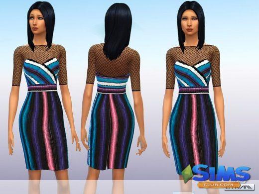 Rainbow stripe dress