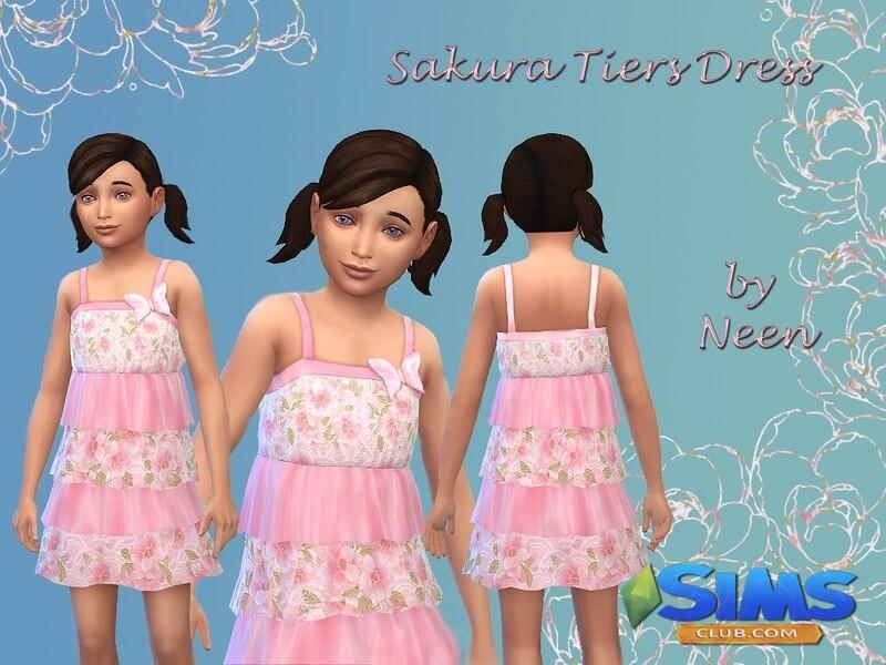 Sakura Tiers Dress