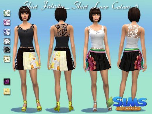 Skirt Falatiu and Top Lace