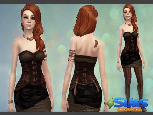 Steampunk Rushed Dress
