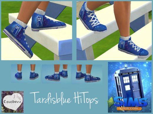 Tardisblue HiTops Shoes