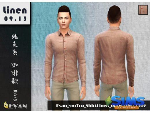 Top ShirtLinen purecolor 0912