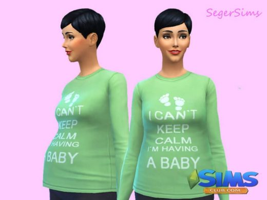 Top for pregnant Sim