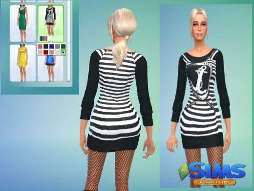 sweaterdress black and white marine