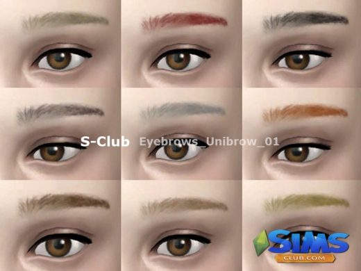 thesims4 Eyebrows Unibrow 01
