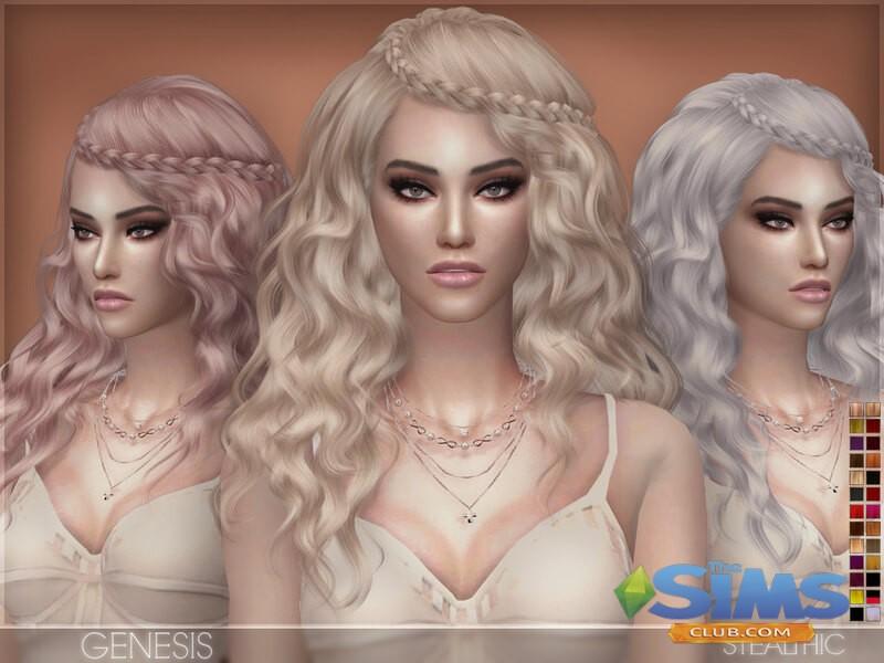Прическа Stealthic - Genesis для Симс 4 | Женские прически ...