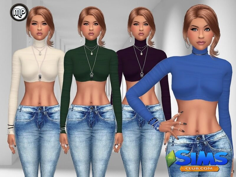 MP Turtleneck Crop Top