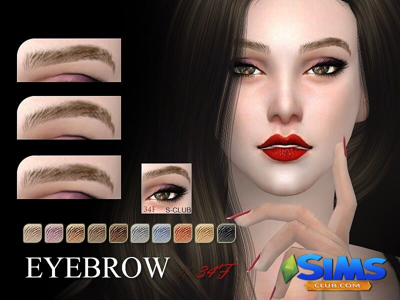 S-Club WM thesims4 Eyebrows 34F