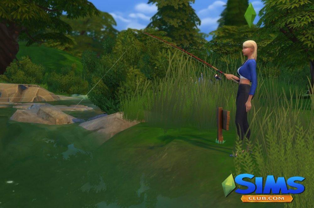 где поймать рыбу морской ангел в Симс 4