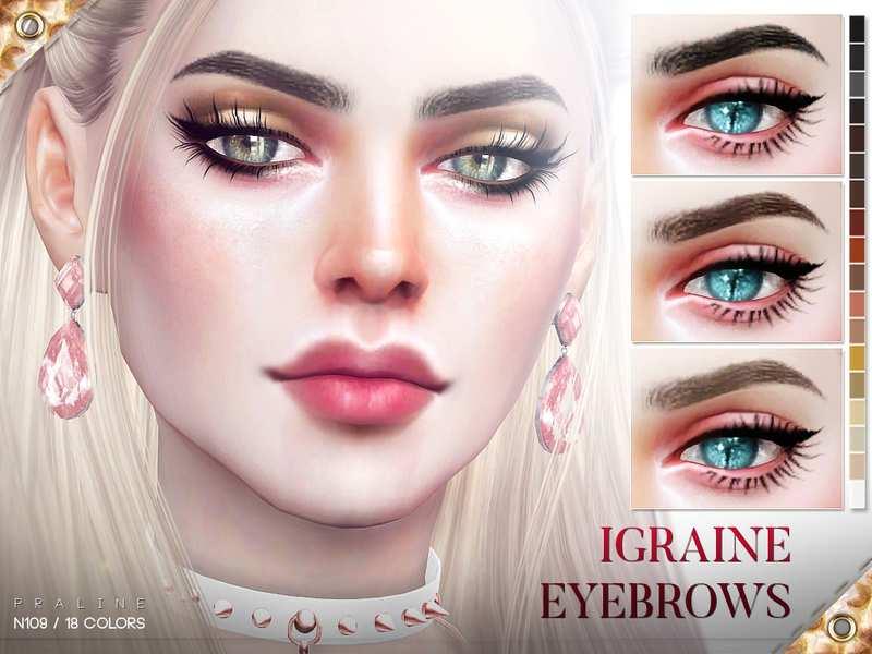 Брови Igraine Eyebrows N109 для Симс 4 | Глаза, брови и ...