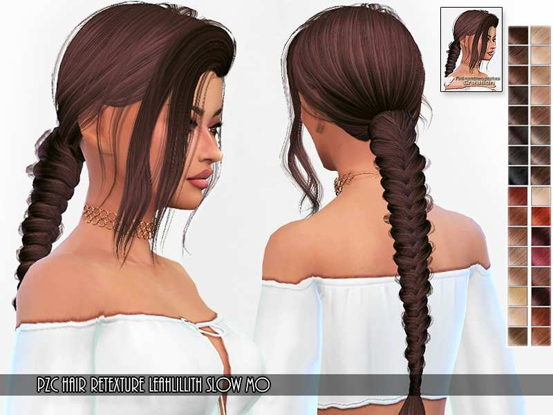 Прическа Retexture Leah Lillith Slow Mo Hair для Симс 4 ...